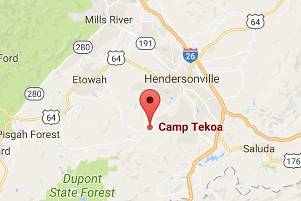 Map to Camp Tekoa