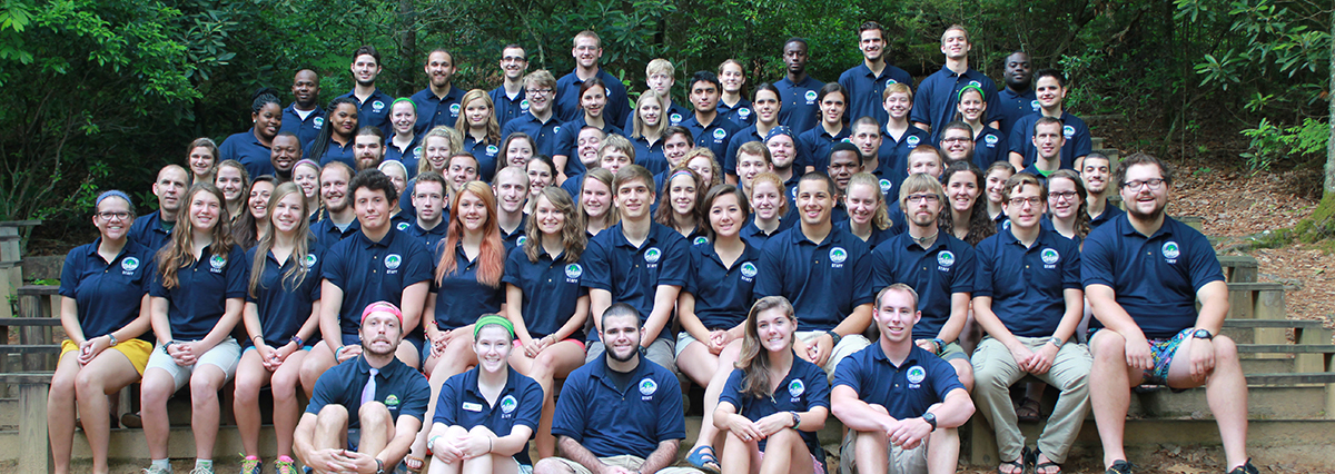 Summer camp staff in NC mountains
